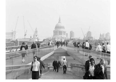 Millennium Footbridge, London, 2007. Digital print, 50.8 x 61 cm